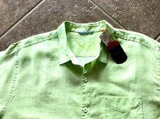 Tommy Bahama Sea Glass Breezer 100% Linen Shirt XLT NWT Long Sleeve Lime Pop