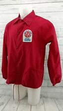 Vintage 70s BSA Boy Scouts of America Red Nylon Jacket Large Order Of Arrow
