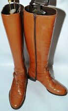 RUSSELL & BROMLEY BOOTS OFFICER BROGUE LACED LEATHER LADIES UK 4.5 EURO 37.5
