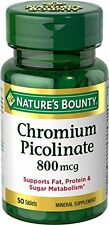 2 Pack Nature's Bounty Chromium Picolinate 800 MCG 50 Tablets Each