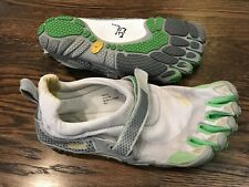 Vibram FiveFingers Women's Sz 40 / 8-8.5 Running Shoes White And Lime Green