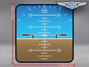 PFD PRIMARY FLIGHT DISPLAY POSITIVE ATTITUDE SQUARE DECAL / STICKER