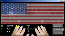 Typity-Type-Type Type it Show off Expert Typing Skills: USA American Flag Skin