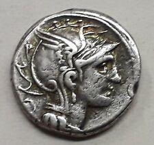 DENIER MALLIA (111-110 Avant J-C) La Victoire dans un trige au pas à droite