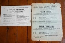 1927 1941 LMS Northern Counties Commitee Ireland Railway Notice Poster Air Raid