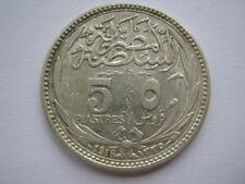 Egypt 1916 silver 5 Piastres VF