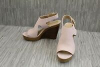 Michael Kors Josephine Embossed Leather Wedge Sandals, Women's Size 10M, Pink