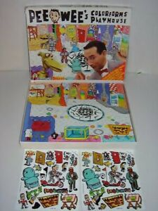 Vintage 1987 PEE-WEE'S COLORFORMS PLAYHOUSE DELUXE EDITION Pee-Wee Herman