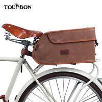 Tourbon Wax Canvas Bike Trunk Bag Insulation Cooler Pack Rear Carrier Pannier