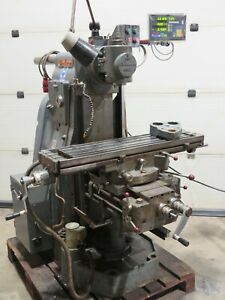 Clarkson CHV.2 Horizontal Vertical Universal Milling Machine With DRO 3 Phase