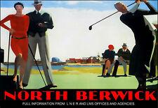 Art ad North Berwick Golf LNER LMS Ferrocarriles Tren Ferrocarril viajar cartel impresión