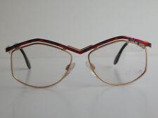 Cazal Vintage Eyeglasses - NOS- Model 249- Col. 416-Gold & Multi Red