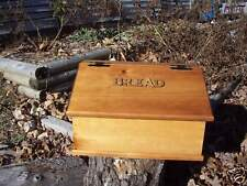 Vintage Country Kitchen Wood Bread Box ooak LRG wooden