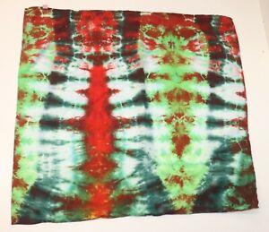 """Tie Dye XL Bandana 24"""" x 24"""" Red Watermelon Fever 100% cotton"""