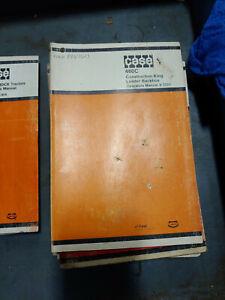 CASE 480C CONSTRUCTION KING LOADER BACKHOE OPERATORS MANUAL 9-3224