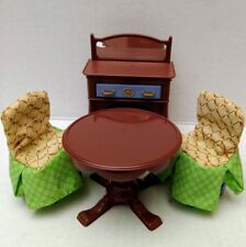 Fisher Price Loving Family Formal Dining Chair Set Slip Cover Table Buffet Doll