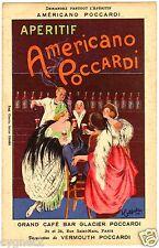 POSTCARD FRENCH CAPPIELLO 1922 APERITIF AMERICANO POCCARDI PARIS CAFE