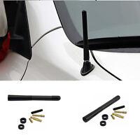 1PC Universal Auto Car 12cm Black Alumni Alloy Carbon Fiber FM AM Antenna Screws