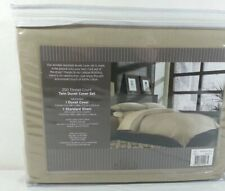 Bed Bath & Beyond Wrinkle Free Twin Duvet Cover Set - Khaki NEW