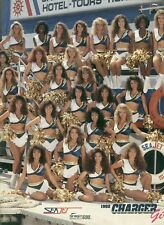 """SAN DIEGO CHARGER GIRLS 1992 (APPROX 11"""" X 13"""") USED"""