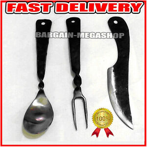 Hand Made Medieval Hand Forged Cutlery Set