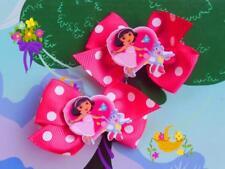 Dora The Explorer Inspired Ribbon Bow Girls Toddler Handmade Dress Up Hair Clip
