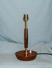 MID CENTURY - TEAK & BRASS TABLE LAMP