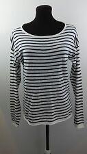 L.O.G.G Label Of Graded Good Sweater Medium Black White Striped Longsleeve