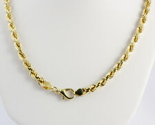 """Diamond Cut Rope Chain Necklace 26"""" 6 mm 89 gm 14k Yellow Solid Gold Men's Women"""