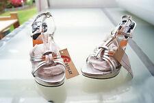 sexy REPLAY Damen Schuhe Sandalen High Heels Sandaletten Pumps Gr.37 silber NEU