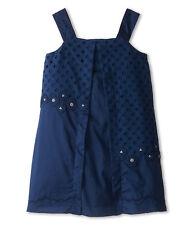 Little Marc Jacobs Eyelet Embroidered dress indigo big kids 8