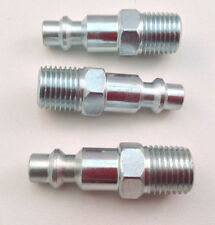"3pc. Quick Connect 1/4"" NPT Male Plug Style ""M"" - Air Tool Fitting"