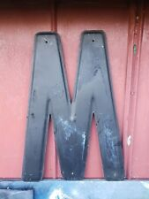 "24"" NOS USA Vintage METAL LETTER ""M"" Wall Art Industrial Marquee Sign"