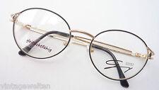 Genny schwarz goldene Schmuckbrille Markengestell verziert Damenbrille Grösse M