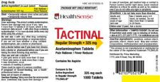 Acetaminophen 325 mg - 1000 Tablets/Bottle(Compares to Tylenol Regular Strength)