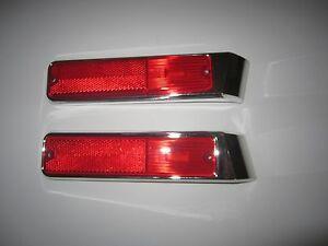 1981 -1991 Jeep SJ Wagoneer J10 20 Left & Right  Rear Side Marker Bezel & Lamp