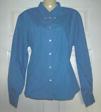 Long Sleeve Button Down Collar No Pattern Cotton Blend Women's Tops & Shirts