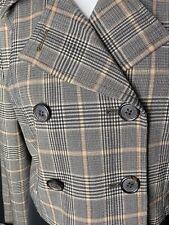 Black Tan EXPRESS DESIGN STUDIO long sleeve Blazer Jacket Size 12