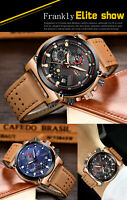 2019LIGE Men Watch Male Leather Automatic date Quartz Watches Mens Luxury Brand