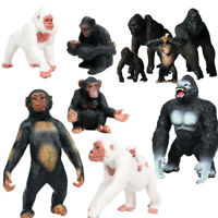 Chimpanzee Gorilla Orangutan Gibbon Animal Figure Model Toy Collector Kids Gift