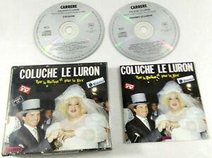 Coffret 2 CDs Coluche et Le Luron Pour le Meilleur et pour le Rire  Envoi suivi