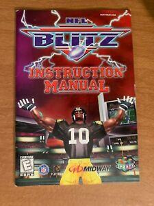 NFL Blitz N64 Nintendo 64 Instruction Manual Booklet Book ORIGINAL