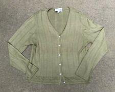 Emanuel Ungaro Women's Vintage 90s 100% Silk Green Cardigan Sweater | Medium