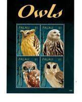 Palau - 2014 - Owls - Sheet of Four -MNH