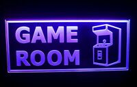 ADV PRO Game Room Man Cave Bar Display Dual Color LED Enseigne Lumineuse Neon Sign Blanc et Bleu 300 x 210mm st6s32-i2338-wb