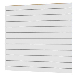 Lamellenwand Lamellenwände ganz weiß 1200x1200 mm inkl weiße aluminium schienen