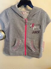 Juicy Couture Girls Glitter Gray Hooded Vest/ Size: XS (5/6) NWT