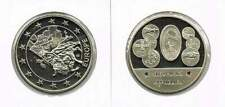 Penning met afbeelding 1 euro en munten Slowakije (a106)