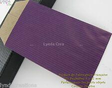 25 POCHETTES CADEAU papier Kraft - AUBERGINE - 7X12 cm - Lyndacrea Perles# EMB10