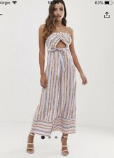 BNWT ASOS PARALLEL LINES STRIPED JUMPSUIT SIZE XS